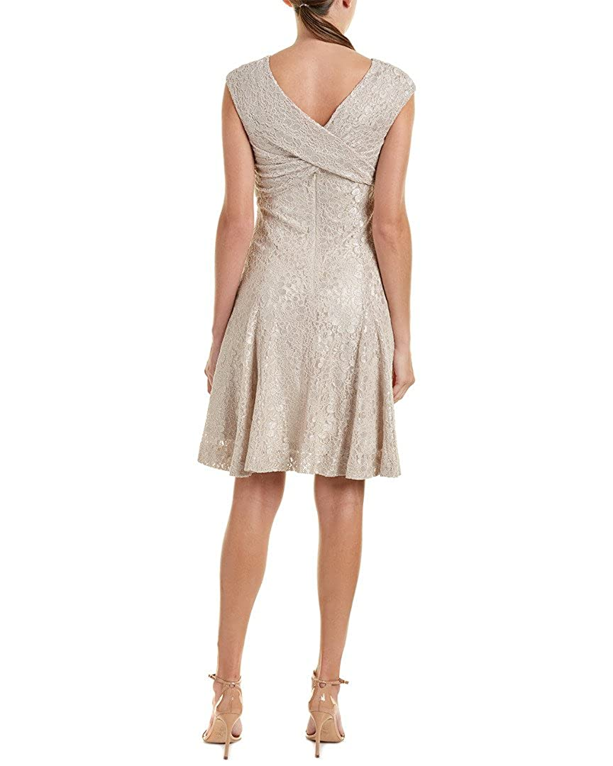 Tahari By Arthur S Levine Womens Rouched Bodice Lace Dress