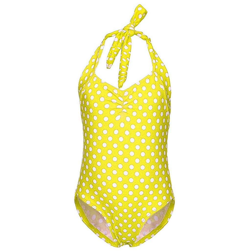 Jchen Dot Swimsuits for Girls, TM Kids Baby Girls Dots Swimwear Bathing Bikini Brief Beach Swimsuit