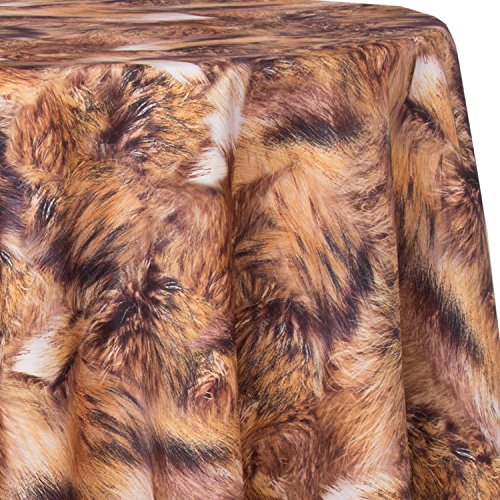 - Ultimate Textile Faux Fur 52 x 70-Inch Oval Patterned Tablecloth
