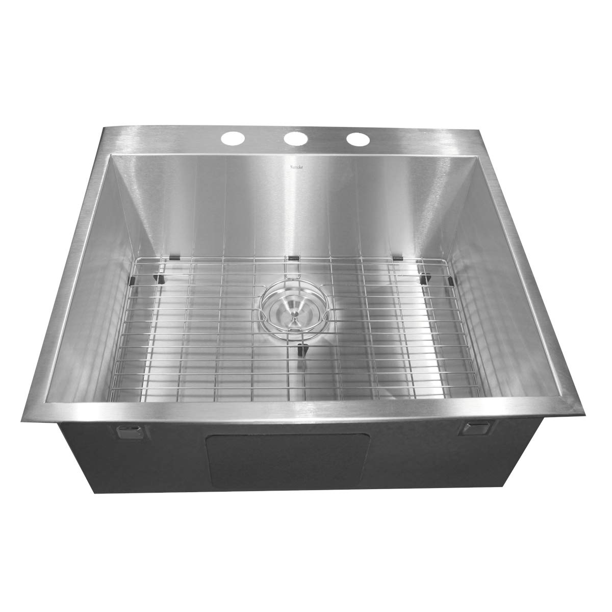 STERLING 11722-NA Cinch 26-7 16-inch by 16-13 16-inch Under-mount Single D-Bowl Kitchen Sink, Stainless Steel