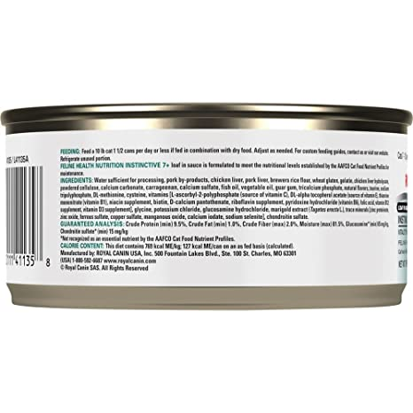 Amazon.com : Royal Canin Feline Health Nutrition Instinctive 7+ Loaf In Sauce Canned Cat Food, 3.0-Ounce, 24-Pack : Pet Supplies