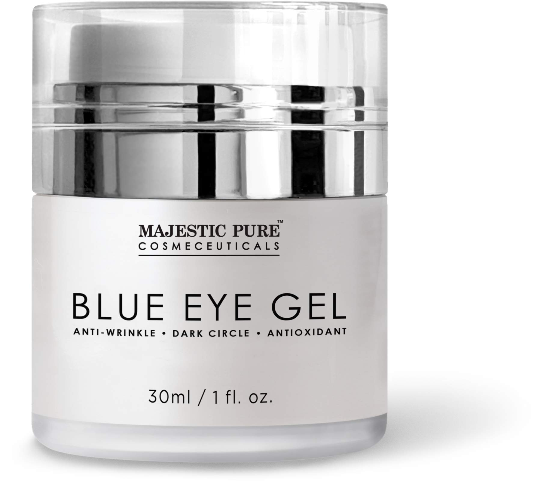 Majestic Pure Blue Eye Gel, Help Reduce the Appearances of Dark Circles, Puffiness, Bags and Wrinkles - 1 fl. oz