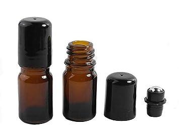 176e6c941957 Amazon.com : 5ml Upscale Amber Glass Empty Refillable Perfume ...