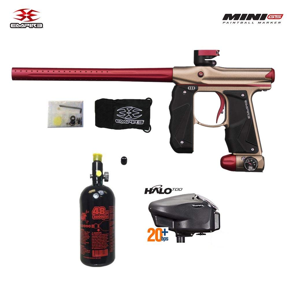 Empire Mini GS HPA Paintball Gun Package A - Dust Tan/Red by Maddog