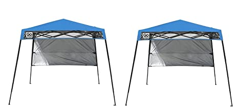 quik shade go hybrid compact slant leg backpack canopy blue 7 x 7 - Compact Canopy 2016