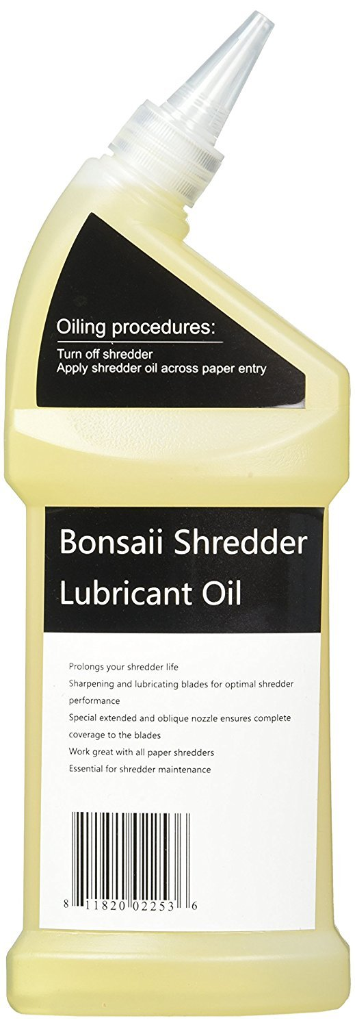 Bonsaii Paper Shredder Lubricant Oil for Home Tools, 12 oz. / 400ml by bonsaii (Image #4)