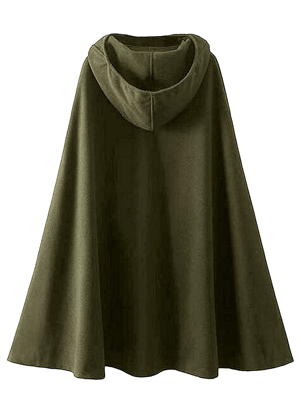 Minetom Donna Eleganti Primavera Autunno Poncho Mantelli Mantello Monocolor Scialle Sciolto Giacca Cappotto Con Cappuccio Trench Outwear