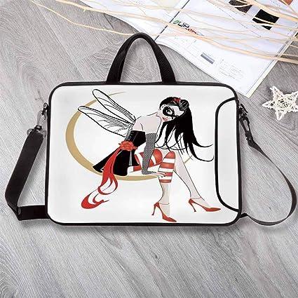 a667d55d3ead Amazon.com: Gothic Wear-Resisting Neoprene Laptop Bag,Stylish Girl ...