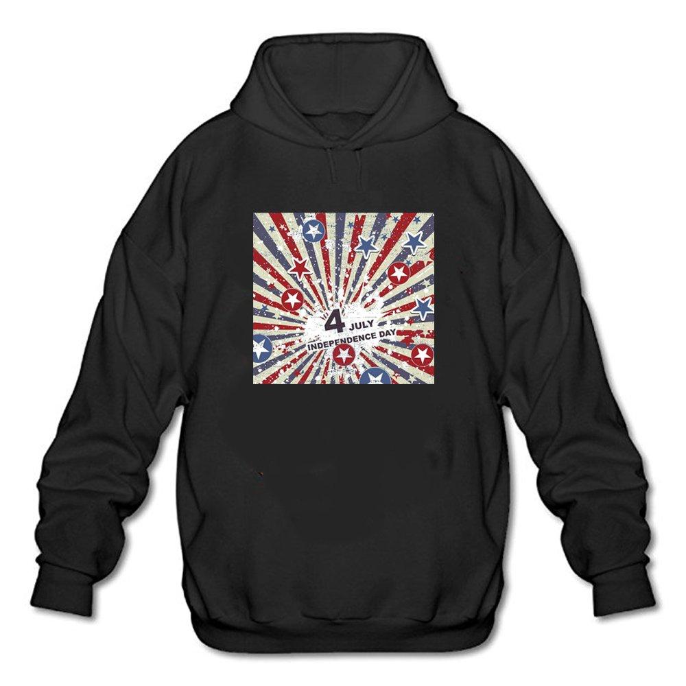 Wyoss Man Letter 4 July Pattern Champion Hoody Shirt 3985