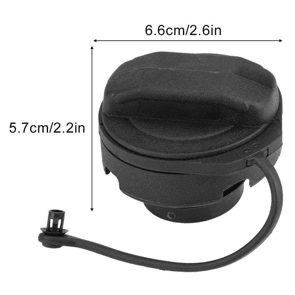 schwarz Tankdeckel Tragbarer Tankdeckel f/ür A4 A6 A8 1J0201553A 1J0201553A Tankdeckel