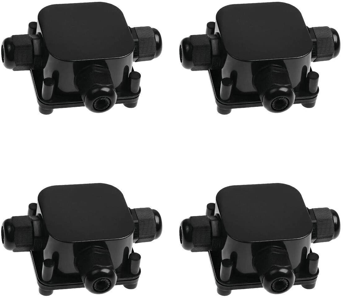Electric Wire Junction Box Ideapro 4pcs Waterproof Ip68 Outdoor 3 Way Electric Cable Junction Box Underground Cable Line Wires Power Cord Connector Protection Black Amazon Com