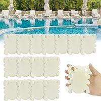 LYTIVAGEN 16 stuks olieabsorberende spons zwembadschuimspons witte schuimspons herbruikbare olieabsorberende spons voor…