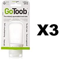 Humangear GoToob silicona Squeeze botella Puffy transparente apto