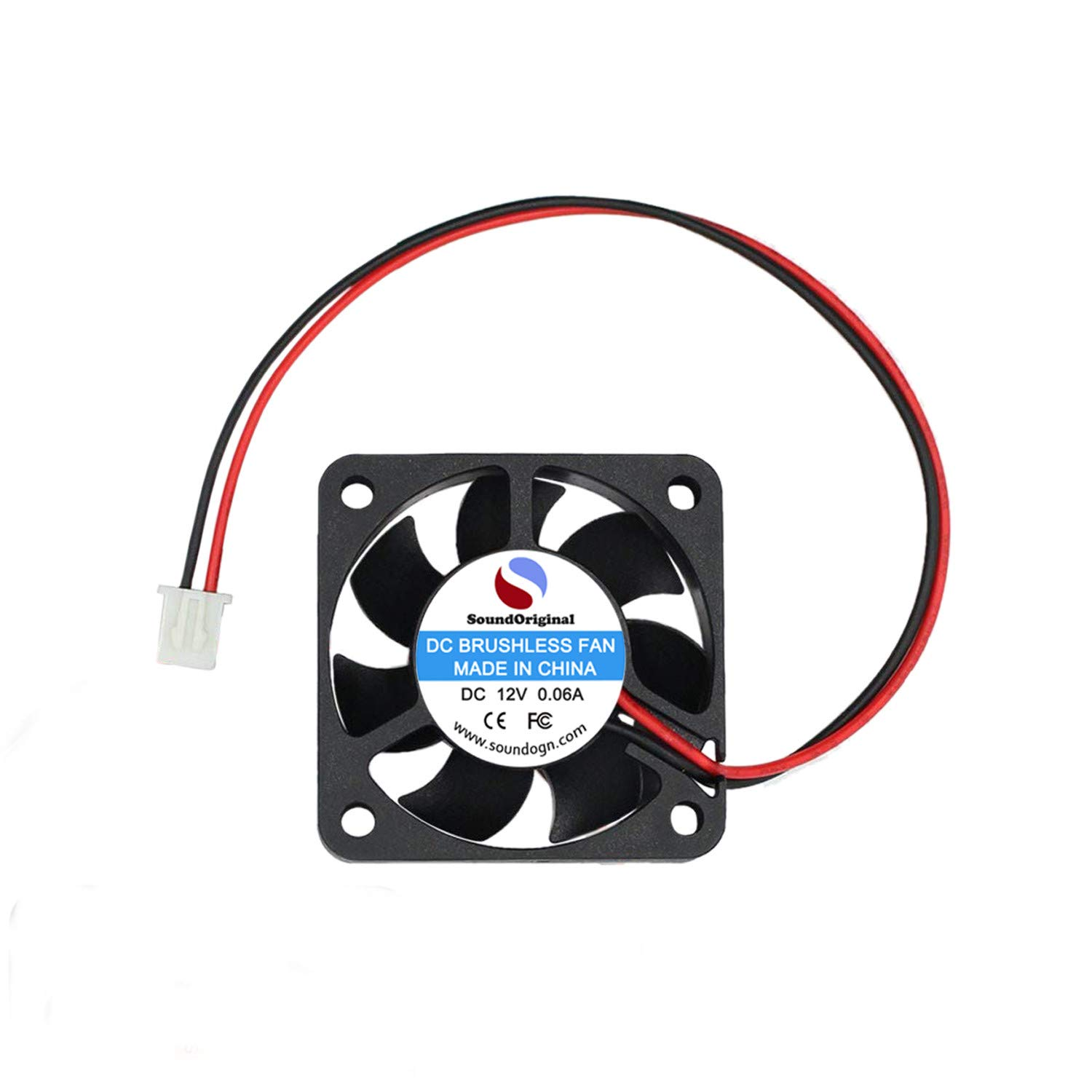 SoundOriginal 4010 Brushless DC Cooling Fan 12V 0 06A 40mm x 40mm x10mm  Speed 6800 RPM Fans for 3D Printer Humidifier Aromatherapy and Other Small