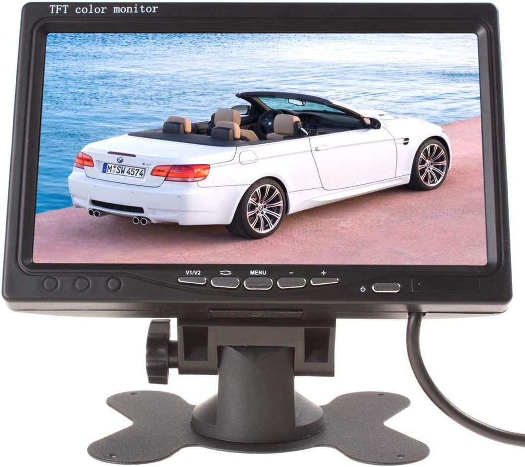 Satellite Receiver and Other Video Equipment Car DVD STB Serveillance Camera ZCYJIKK 7 Inch 16:9 Vehicle On-Dash Backup Monitor TFT LCD Monitor for Car Rearview Cameras