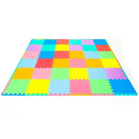 Amazon Prosource Puzzle Solid Foam Play Mat For Kids 36 Tiles