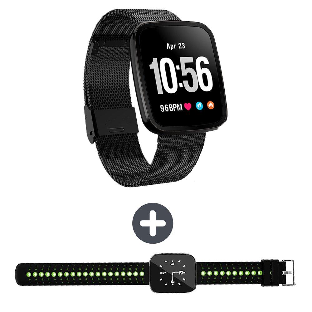 EnIceHime V6 Fitness Tracker Smart Bracelet Watch, Waterproof Screen with Breathing Light Sport Smart Wristband Watch by EnIceHime