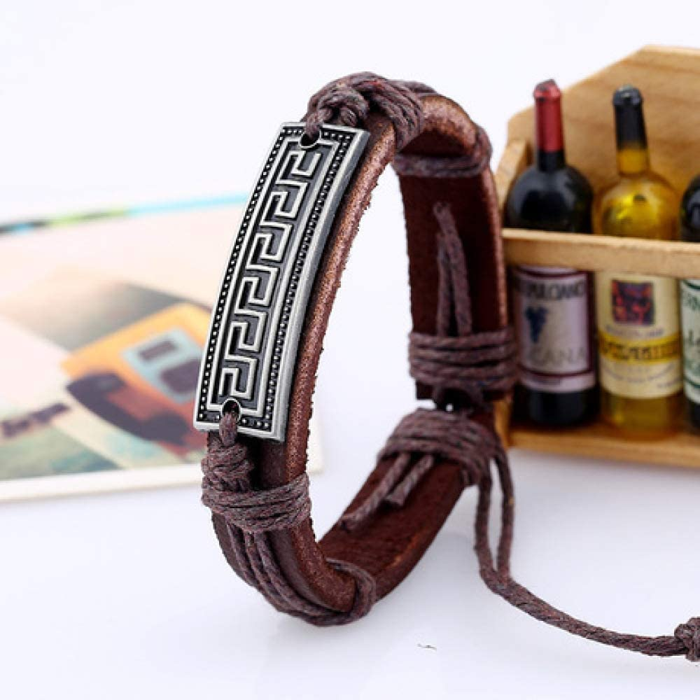 Hand Wrapped Leather Bracelet//Vintage Leather Bracelet Mens Bracelet Adjustable