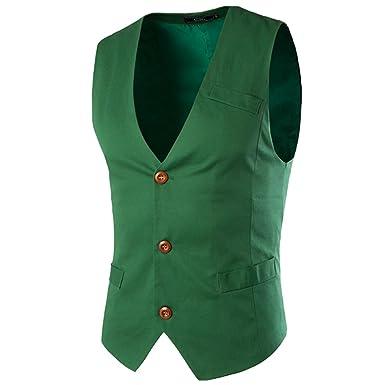 Boom Fashion Hombre Elegante Chaleco Traje Slim Fit Waistcoat ...
