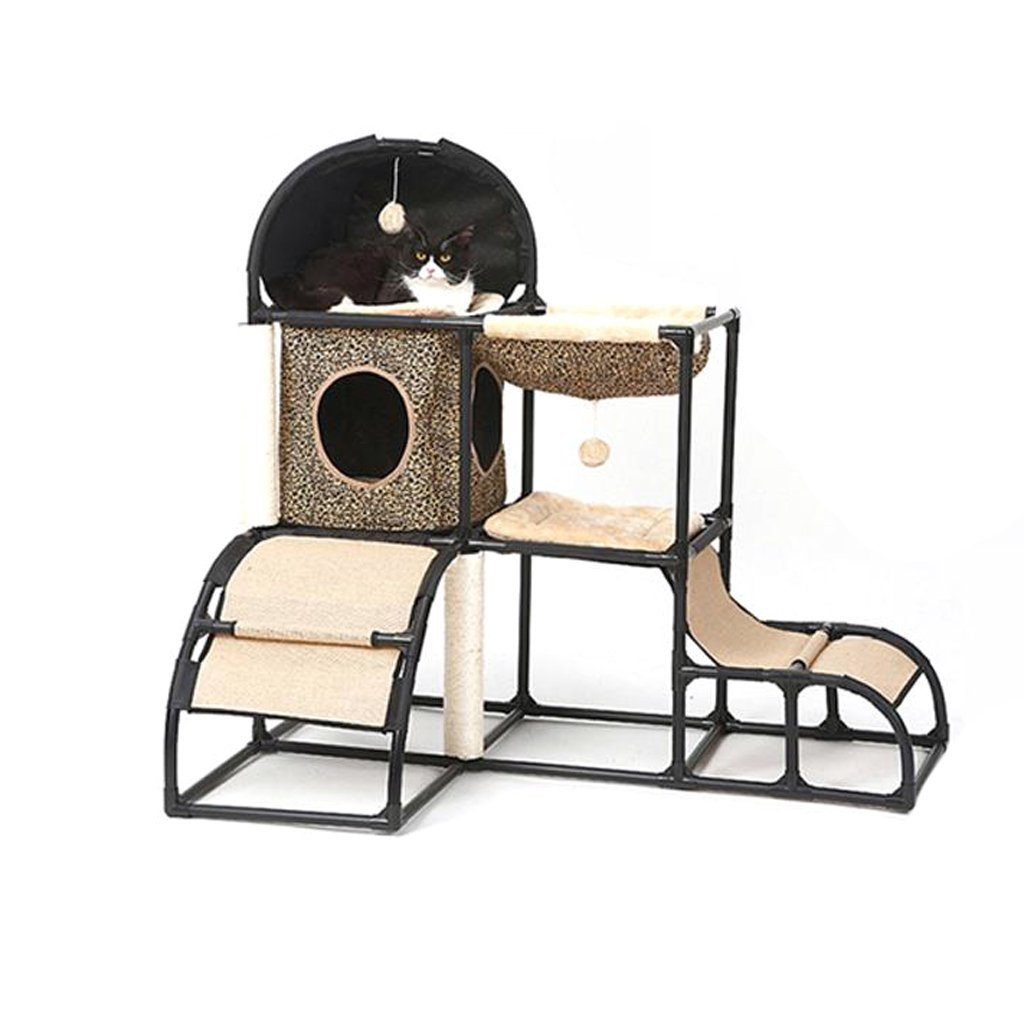 A RY kennel Pet supplies Pet house Cat nest Cat house Cat climbing frame Cat rack Cat tree Splicable Cat scratch board Cat toy Pet supplies mprove sleep and carry (color   A)