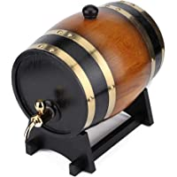 Large Capacity Whiskey Barrels Wine Barrels Oak Barrel, Wine Barrel, Beer Barrel Wooden Barrels Restaurant for Home for…