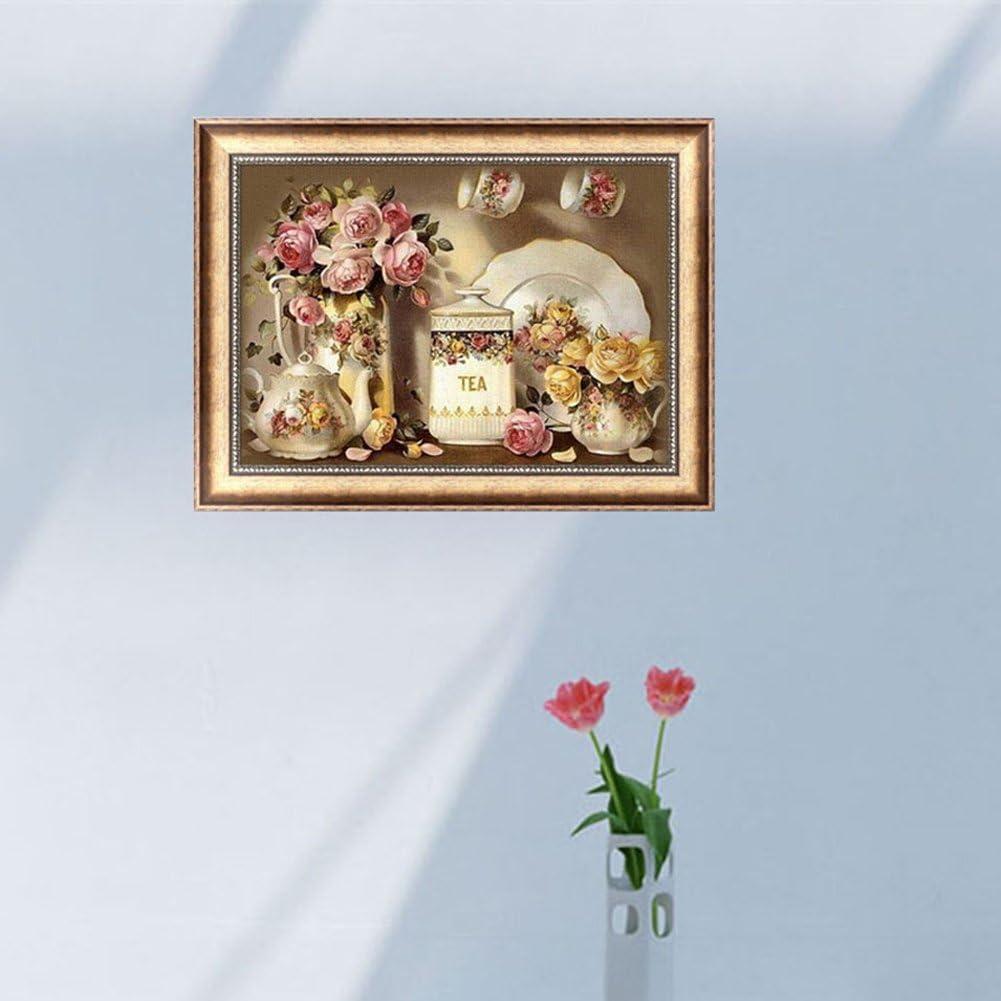 mosaico para decoraci/ón del hogar Weishazi Jarr/ón 5D bordado de diamantes para manualidades pintura de punto de cruz