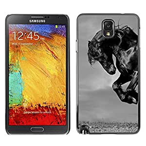 Plastic Shell Protective Case Cover || Samsung Galaxy Note 3 N9000 N9002 N9005 || Mustang Mane Gallop Stallion @XPTECH