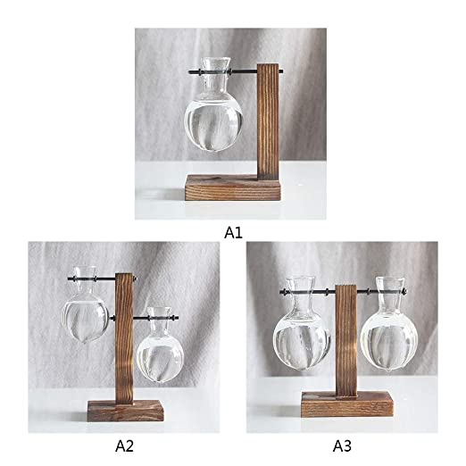 Maceta de madera - creativa mesa colgante de vidrio Libra maceta ...