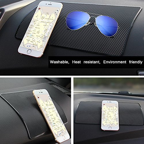 Car Dashboard Anti-Slip Mat, DaKuan 4 Packs 10.5'' x 5.7'' and 8'' x 5.1'' Sticky Non-Slip Dashboard Gel Latex Pad for Cell Phone, Sunglasses, Keys, Coins by DaKuan (Image #4)