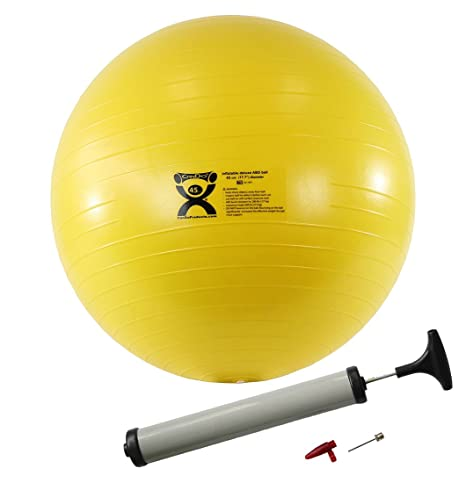 Cando Inflatable Exercise Ball Abs Extra Thick Yellow  Cm