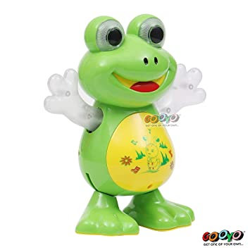 Gooyo Dancing Frog Animals Musical Sound Electronic Toys for Babies with Music LED…