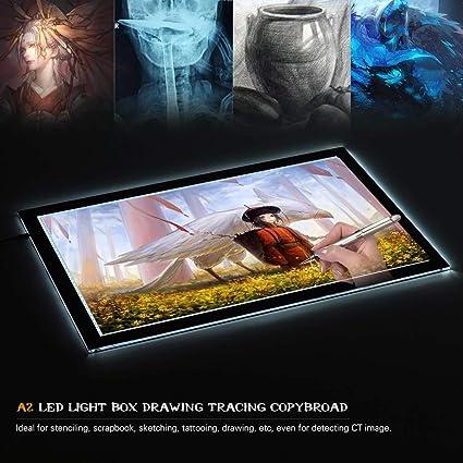 A2 USB LED Artist Tattoo Stencil Board Light Box Tracing Drawing Board Pad Table