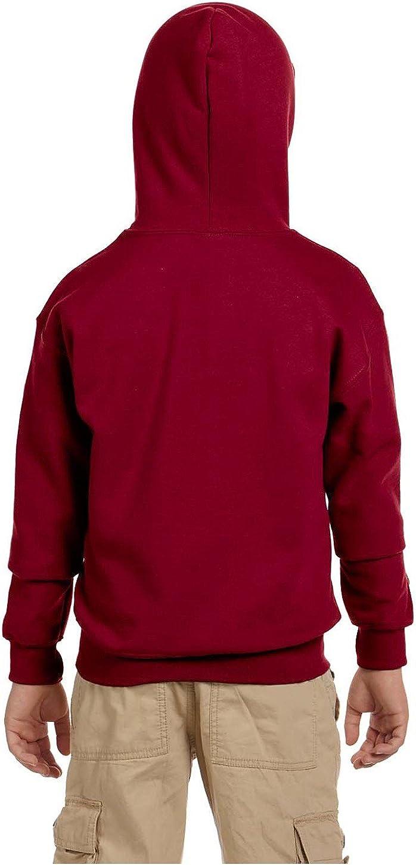 Cardinal Red XS 50//50 Full-Zip Hood Gildan Heavy Blend Youth 8 Oz