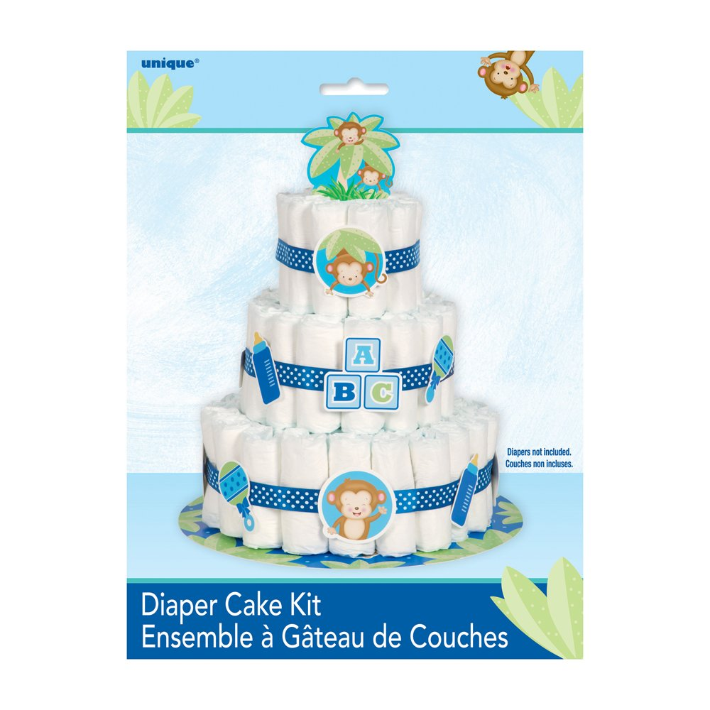 Decoración para fiesta de nacimiento de niño con tema de mono: Amazon.es: Juguetes y juegos