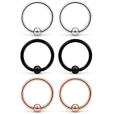 Amazon.com: Yaalozei 6 piezas 16 G acero inoxidable perlas ...