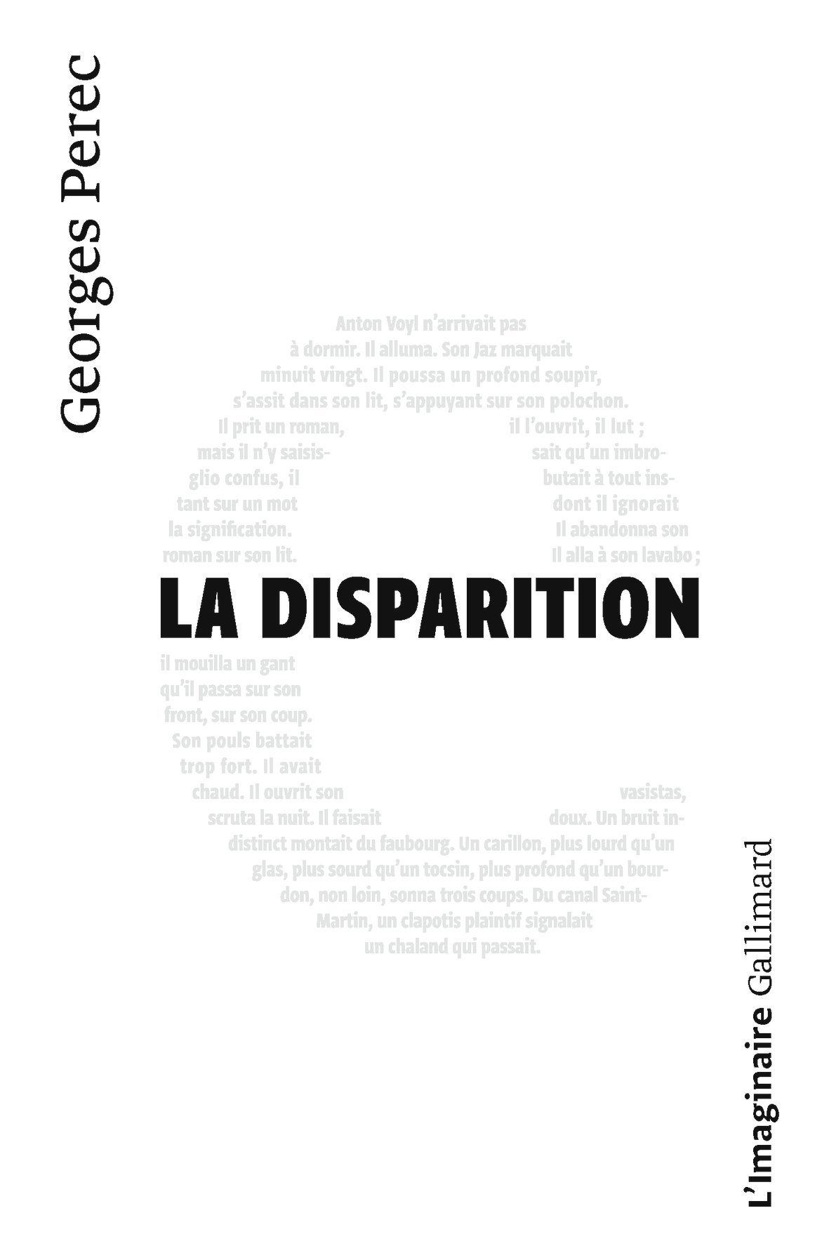 La Disparition (French Language Edition)