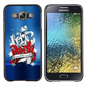 TECHCASE---Cubierta de la caja de protección para la piel dura ** Samsung Galaxy E5 E500 ** --Vamos a Rock Around The World