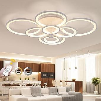 Weiting 110w 8 Anneaux Super Mince Circel Anneaux Lampe De Lustre Plafonnier Moderne Salon Salle De Séjour Lampe De Plafond Led Moderne Lampe De