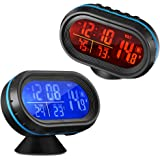 AUTOLOVER 4 In 1 Digital Car Thermometer Voltage Meter Luminous Clock Tester Detector LCD Monitor Back