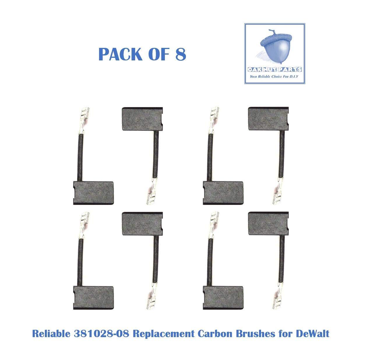 8PCS Reliable 381028-08 Carbon Brush Replacement for DeWalt 381028-08 & 381028-02 -Fits DW717, DW718, DWS780 (8 pcs/pack)
