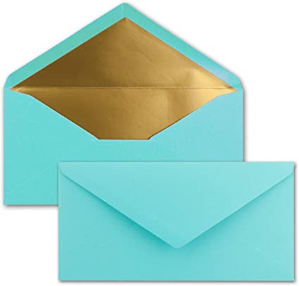 Kuverts DIN Long Collage Humide avec rev/êtement en Caoutchouc Or Argent m/étallique 700 Umschl/äge Kraftbraun Gold