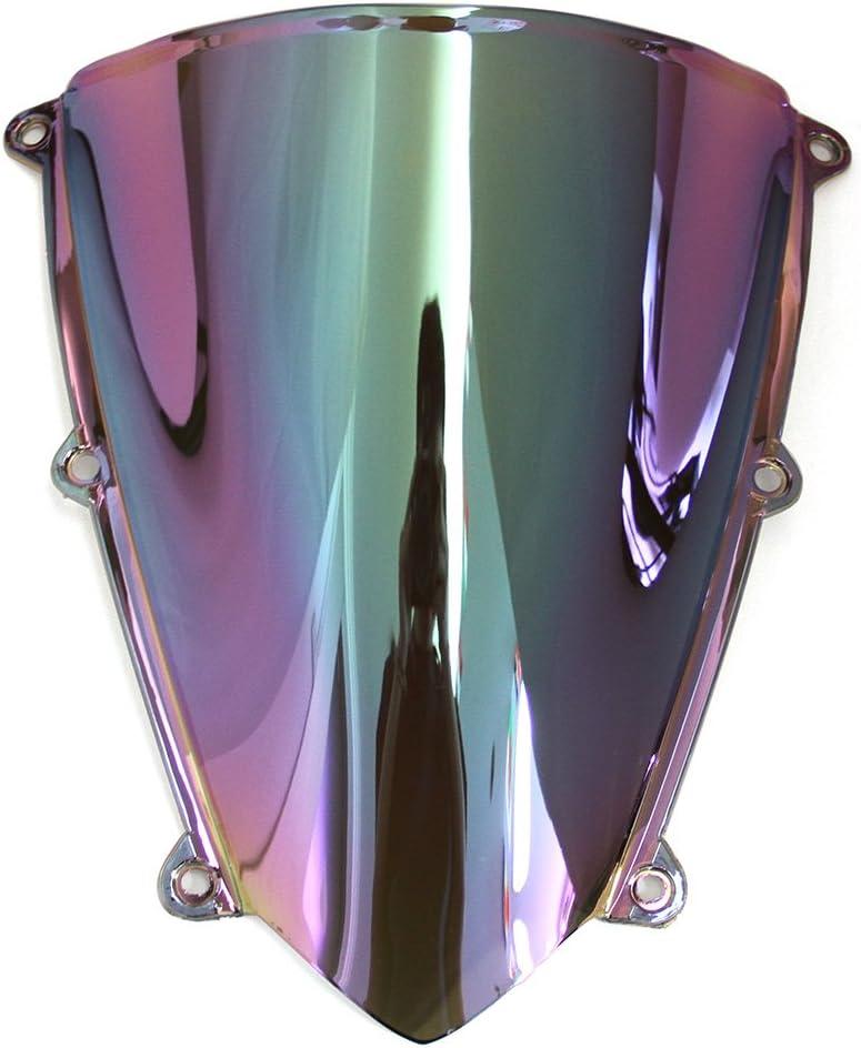 Motor Double Bubble Windschutzscheibe Windabweiser Motorrad Fit f/ür Honda CBR600RR F5 CBR 600RR F5 2007-2012 Blau