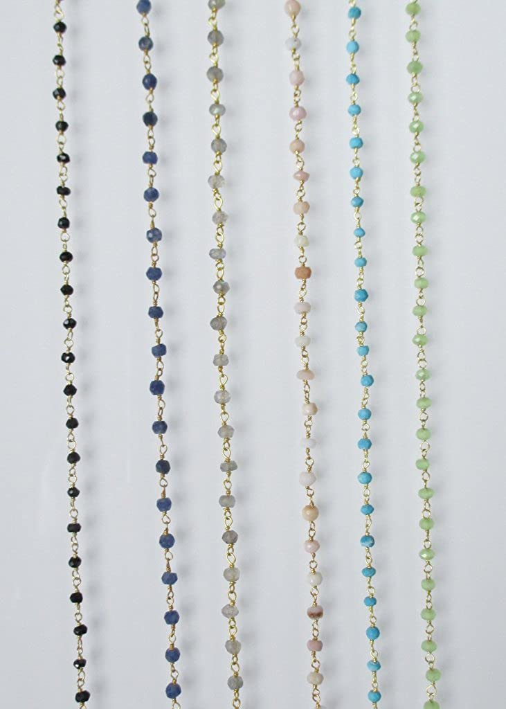 MIDORI LINEA Laria Tiered Anklet Pink Opal