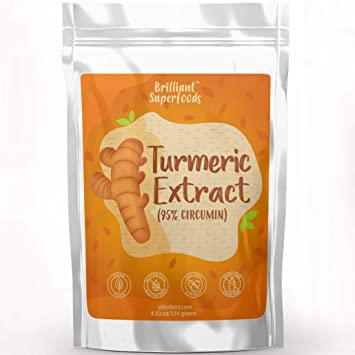 Turmeric 95% Curcumin Extract Pure Superfood Powder - Large 4.02 oz - A  Natural Food Coloring &...