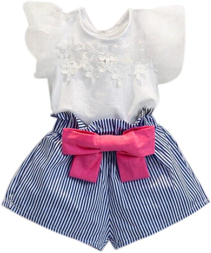 FAMILIZO Blusas de Niñas, Bebés Niñas Camiseta De Encaje De Encaje ...