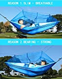 Camping Hammock with Net Mosquito, Parachute Fabric