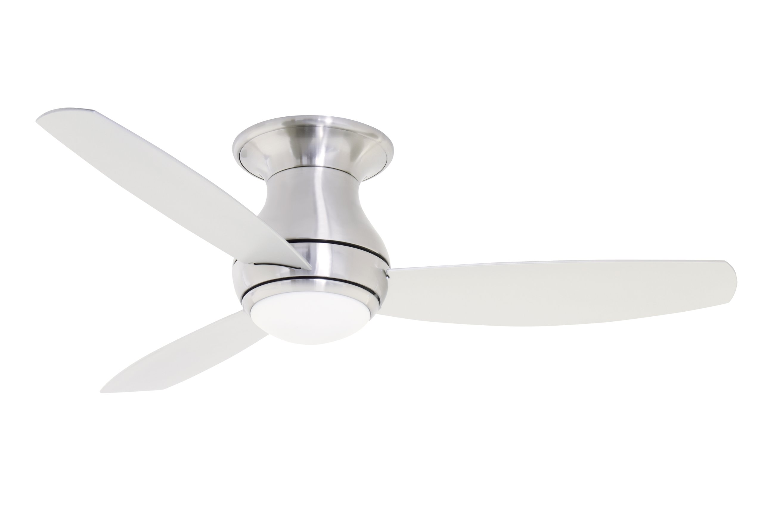 Emerson Ceiling Fans CF144BS Curva Sky Modern Ceiling Fan With Light And Remote, 44-Inch Blades, Brushed Steel Finis