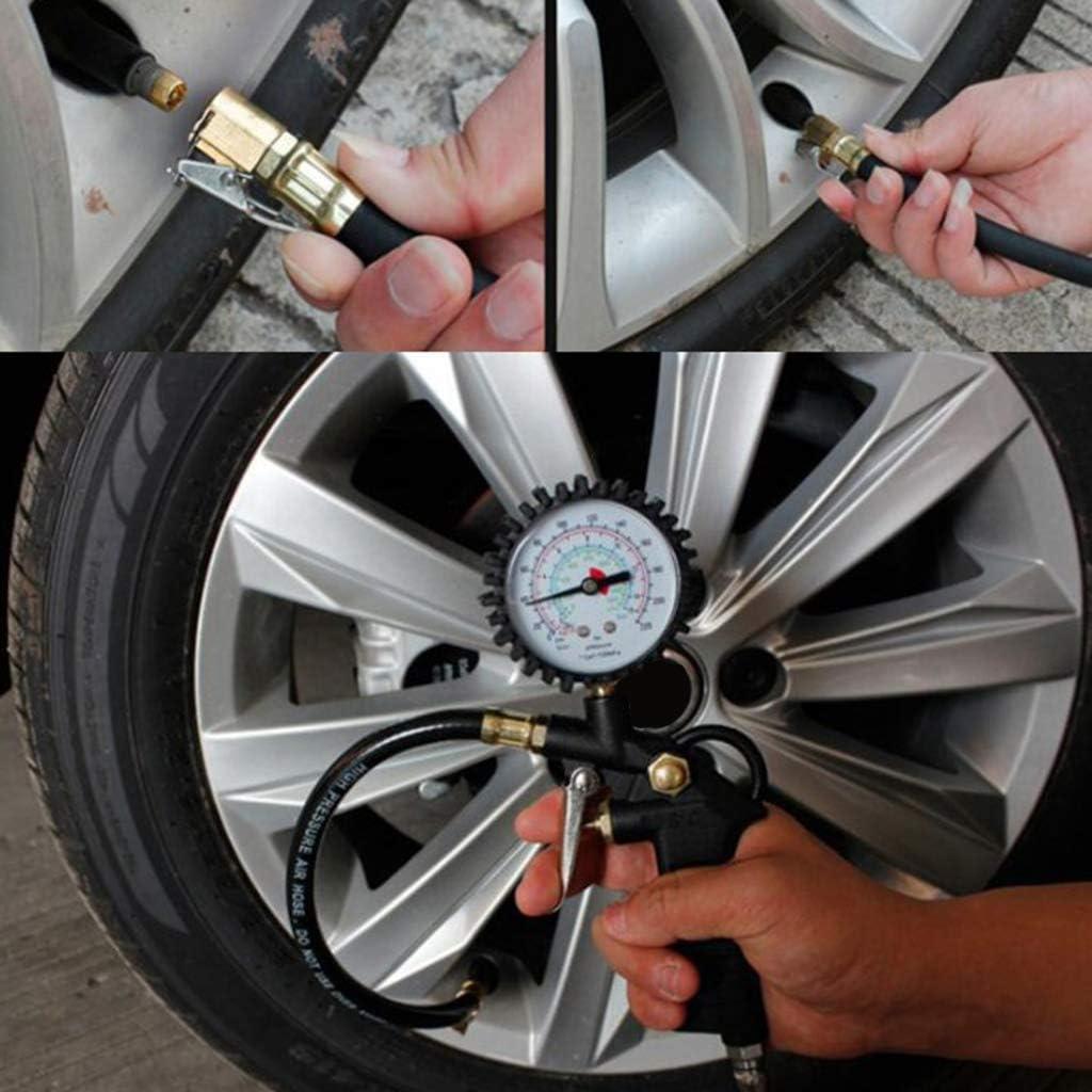 0-16 bar Stil 1 H HILABEE Reifenf/üll-Messger/ät Luftdruckpr/üfer Reifenf/üllger/ät Reifendruckpr/üfer Manometer f/ür Auto Motorrad Reifen Messbereich