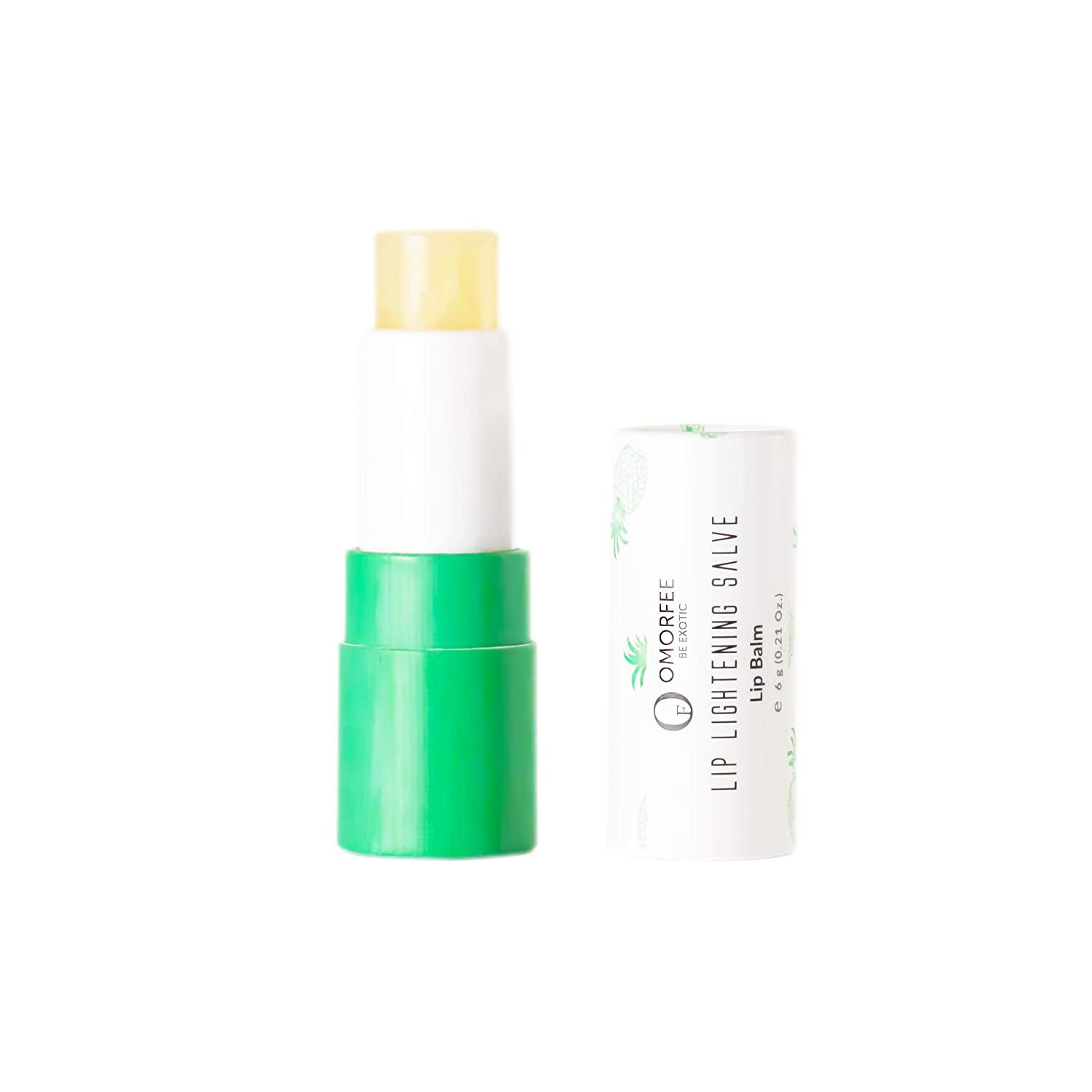 Omorfee 100% Organic Lip Lightening Stick for Dark Lips, Lip Whitening Lipstick with SPF, Natural Lip Balm Protection & Repair, Cocoa Butter, Carrot Seed Oil & Pineapple Extract - 6 Grams/0.21 Oz