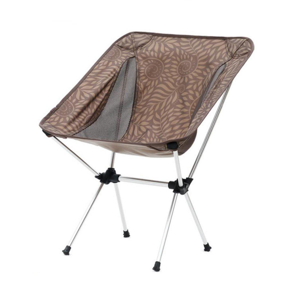 CHENGXIAOXUAN Talon Leicht Aluminium Im Freien Falte Portable Liegestühle Camping Grill Stuhl 800 G 250 Pfund Last,Braun